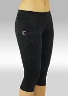 Gymnastikbyxor K754zw Tights trekvartslång svart
