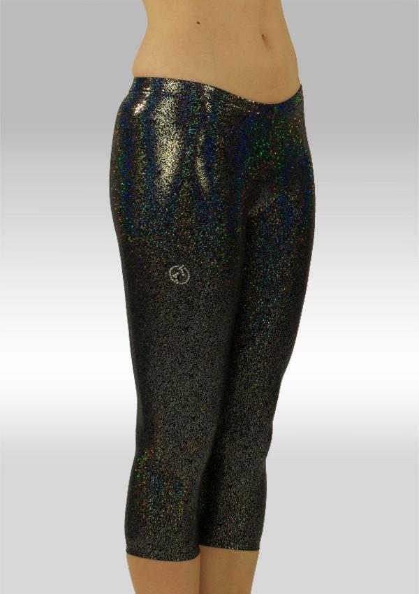 Tights 3/4 glitter wetlook